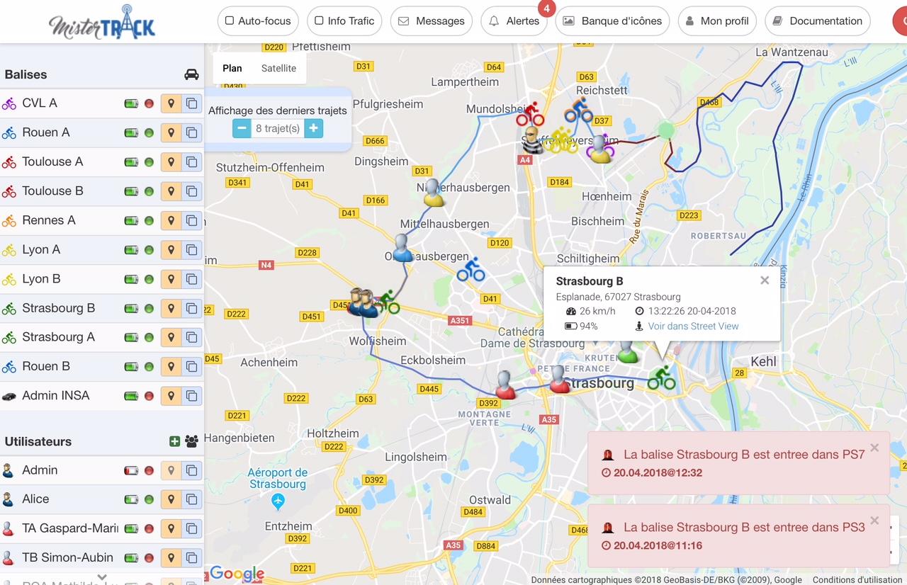Balise GPS raid et trail