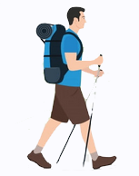 Stand alone GPS tracker for hiker