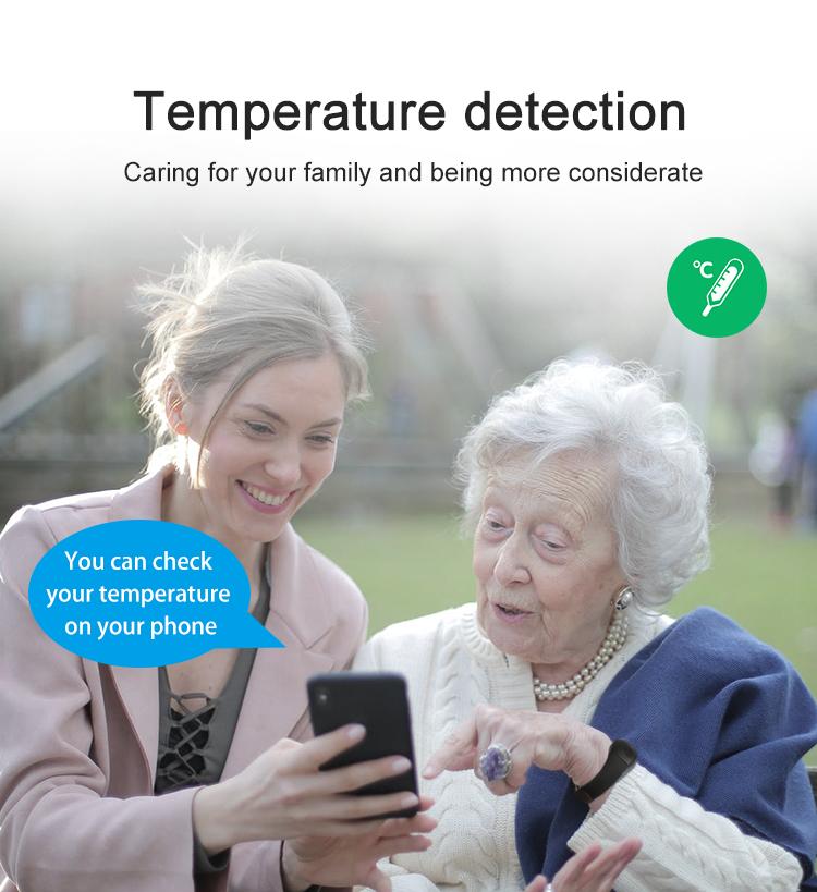 Bracelet GPS avec température