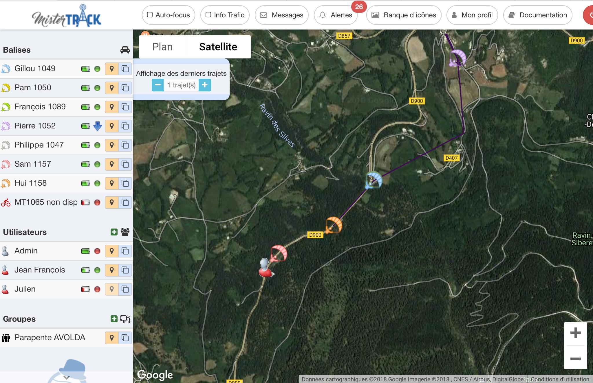 Localizador GPS parapente