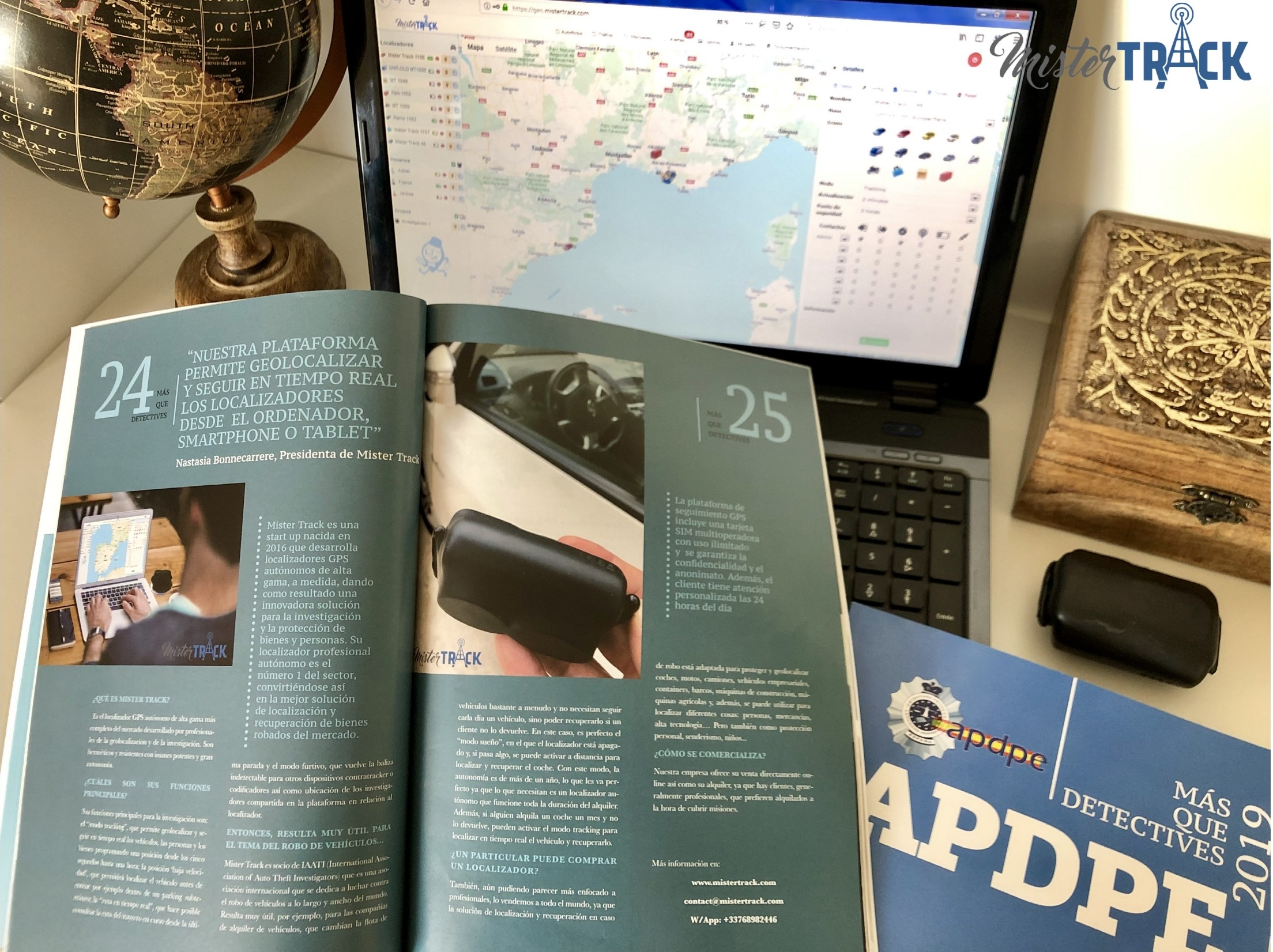 Traceurs GPS autonomes Mister Track – Plus que des détectives – Interview avec APDPE